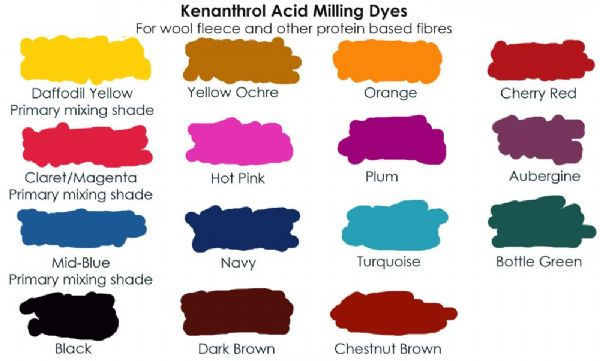 Daffodil yellow kenanthrol acid milling dye primary mixing shade 25g
